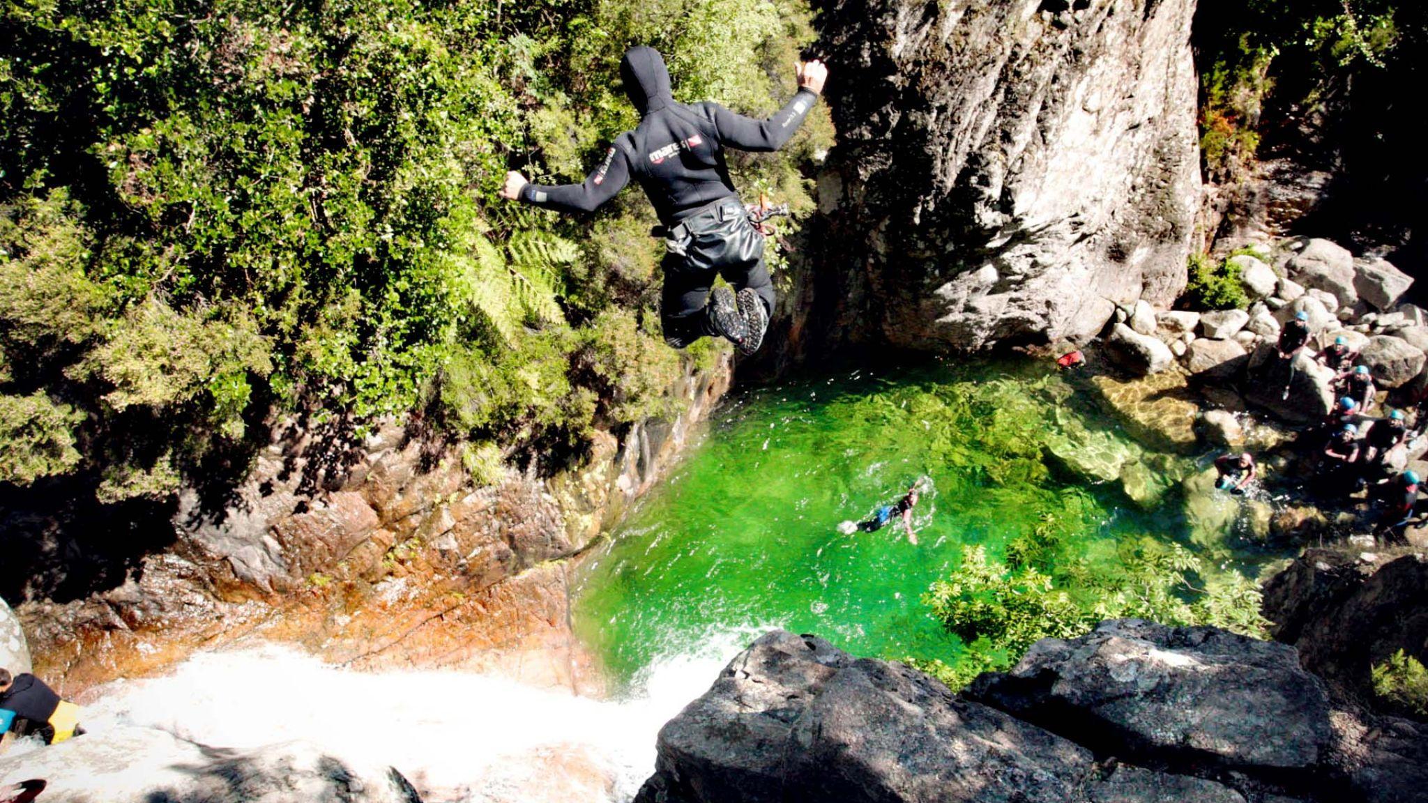 Klettergurt Canyoning : Canyon pulischellu canyons in korsika bavella